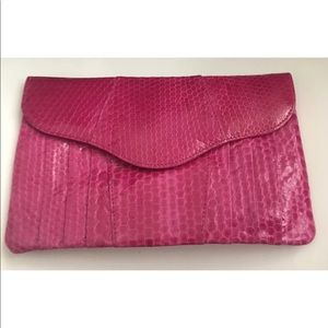 New Pink Snakeskin iPhone Case Jim Thompson Purse